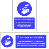 reduce isk of infection hand wash sign