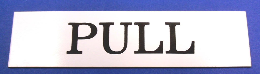 Engraved Acrylic Laminate Pull Door Sign
