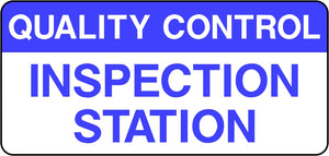 Quality Control Inspection Station Labels