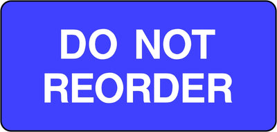 Do Not Reorder Labels