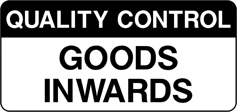 Quality Control Goods Inwards Labels