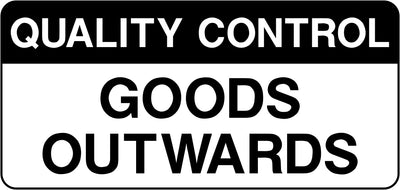 Quality Control Goods Outwards Labels