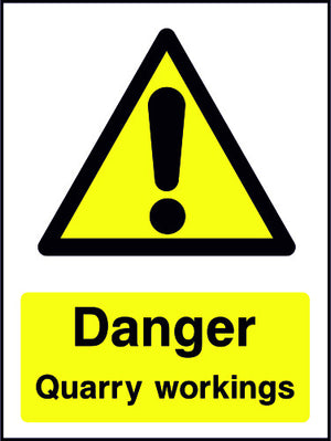 Danger Quarry Workings sign