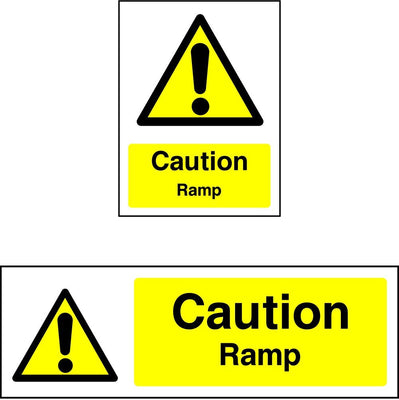 Caution Ramp safety sign
