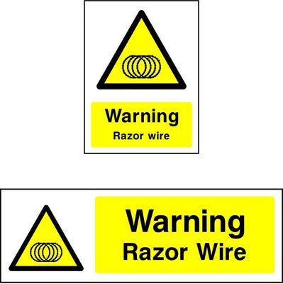 Warning Razor Wire