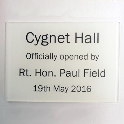 A4 Reverse Engraved Laminate Plaque