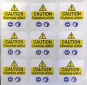 150mm Square Printed Labels