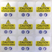 50mm square vinyl labels