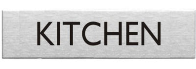 Engraved Stainless Steel Kitchen Door Sign