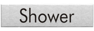 Engraved Stainless Steel Shower Door Sign
