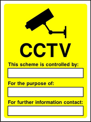 CCTV scheme is controlled by sign