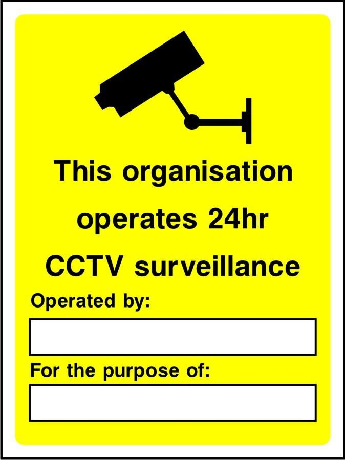 This organisation operates a 24hr CCTV surveillance sign