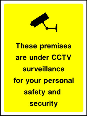 These premises are under CCTV surveillance for your safety sign