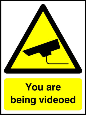You are being videoed sign