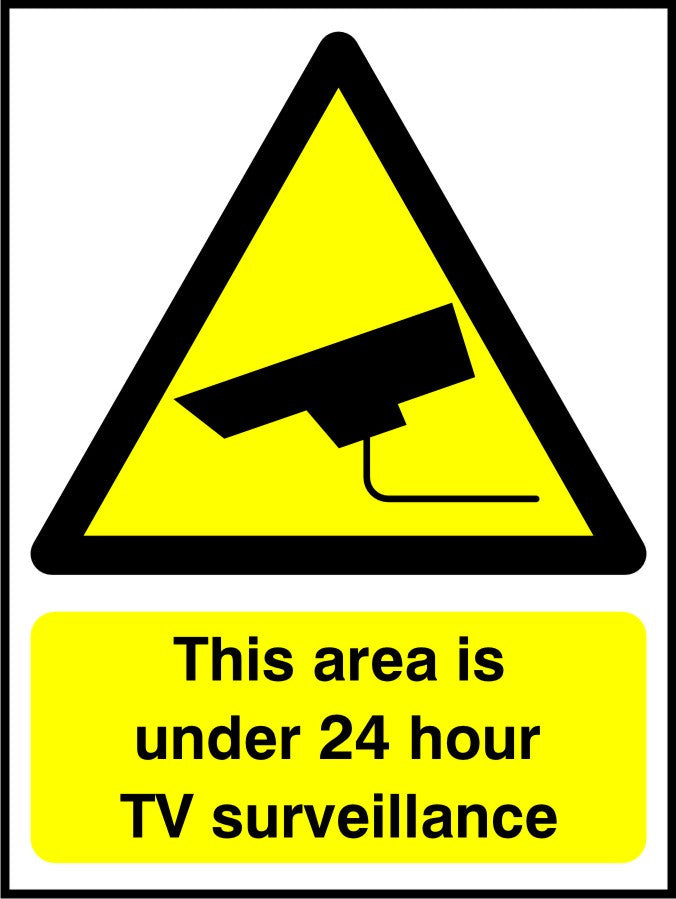 This area is under 24 hour TV surveillance sign