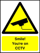 Smile You're on CCTV sign