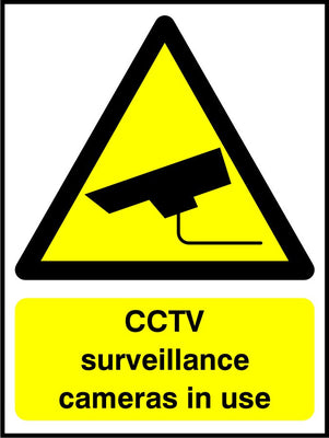 CCTV surveillance cameras in use sign