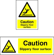 Caution Slippery surface safety sign