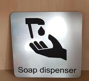 Engraved Soap Dispenser Symbol Sign