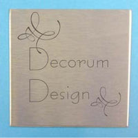 Engraved Stainless Steel Label 50mm x 50mm