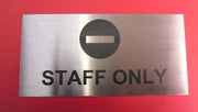 150mm x 75mm Engraved Stainless Steel Label
