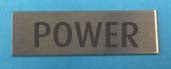 Engraved Stainless Steel Label 40mm x 15mm