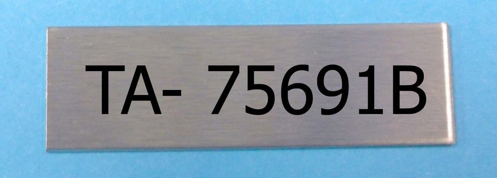 50mm x 10mm Stainless Steel Label