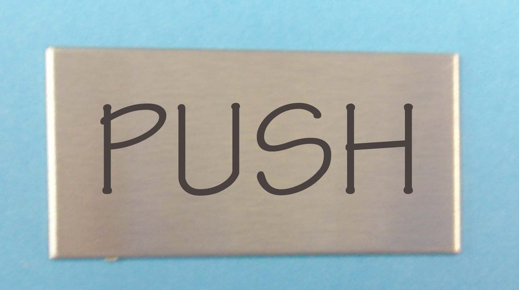 Engraved Stainless Steel Label 100mm x 50mm