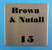 Engraved Stainless Steel Label 75mm x 75mm