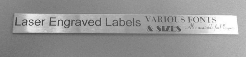 Engraved Stainless Steel Label 235mm x 20mm