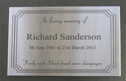 A4 Stainless Steel Plaque