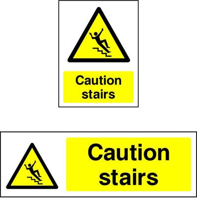 Caution Stairs safety sign