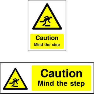 Caution Mind the step safety sign