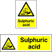 Sulphuric Acid Warning Sign