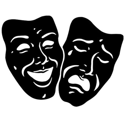 Theatrical Masks Vinyl Graphic