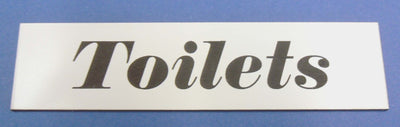 Engraved Acrylic Laminate Toilets Door Sign