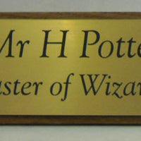 engraved desk nameplate