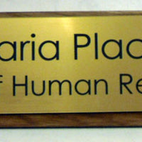 wooden desk nameplate