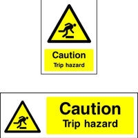Caution Trip Hazard safety sign