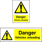Danger Vehicles Unloading safety sign
