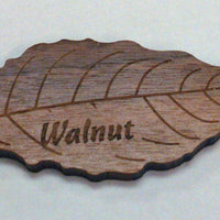 Engraved Wooden Leaf on Walnut Veneer