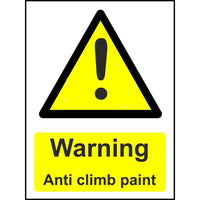 Warning Anti Climb Paint safety sign