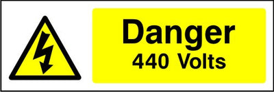 Danger 440V electrical safety sign