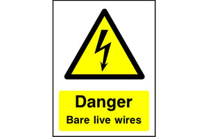 Danger Bare Live Wires safety sign