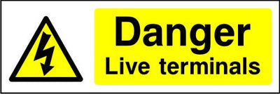 Danger Live Terminals safety sign