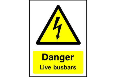 Danger Live Busbars safety sign