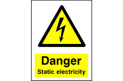 Danger Static Electricity safety sign