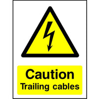 Caution Trailing Cables safety sign