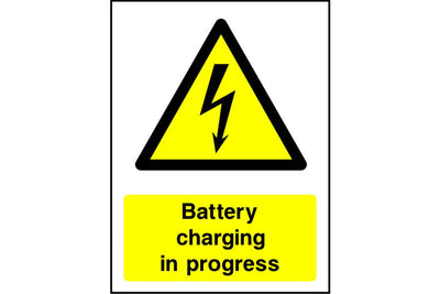 Battery Charging In Progress safety sign