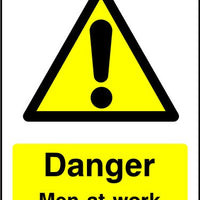Danger Men At Work sign